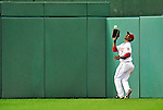 29 September 2010: Washington Nationals outfielder Nyjer Morgan in action against the Philadelphia Phillies at Nationals Park in Washington, DC. The Phillies defeated the Nationals 7-1 to take the rubber game of their 3-game series. Mandatory Credit: Ed Wolfstein Photo