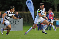 Jeff Williams of Bath Rugby in possession. Pre-season friendly match, between Yorkshire Carnegie and Bath Rugby on August 13, 2016 at Ilkley RFC in Ilkley, England. Photo by: Ian Smith / Onside Images