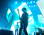 WASHINGTON, DC - June 3rd, 2012 - Ed O'Brien and Thom Yorke  of Radiohead perform at the Verizon Center in Washington, D.C.  It was the first time the band performed in the metro-D.C. area since their infamous show in the rain at Nissan Pavilion in 2008. (Photo by Kyle Gustafson/For The Washington Post)