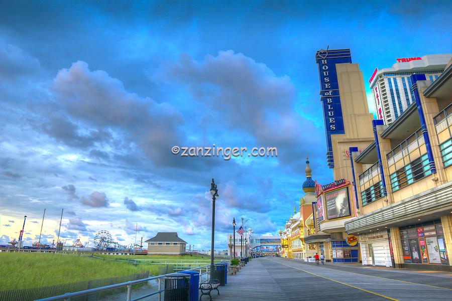 Atlantic City; House of Blues,  World-famous Boardwalk; Sand; Resort hotels; Architecture; New Jersey