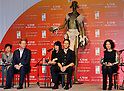 "Andrew Stanton, Taylor Kitsch and Lynn Collins, Apr 02, 2012 : Tokyo, Japan :(L-R)Director Andrew Stanton, actor Taylor Kitsch and Actress Lynn Collins attend a press conference for the film ""John Carter"" in Tokyo, japan, on April 2, 2012.the film will open on April 13 in Japan."