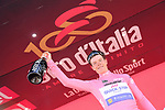 Bob Jungels (LUX) Quick-Step Floors takes over the race leaders Maglia Rosa at the end of Stage 4 of the 100th edition of the Giro d'Italia 2017, running 181km from Cefalu to Mount Etna, Sicily, Italy. 9th May 2017.<br /> Picture: LaPresse/Gian Mattia D'Alberto | Cyclefile<br /> <br /> <br /> All photos usage must carry mandatory copyright credit (&copy; Cyclefile | LaPresse/Gian Mattia D'Alberto)