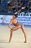 Rut Castillo of Mexico performs with rope 2010 Holon Grand Prix at Holon, Israel on September 3, 2010.  (Photo by Tom Theobald).