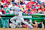 25 April 2010: Los Angeles Dodgers' outfielder Andre Ethier in action against the Washington Nationals at Nationals Park in Washington, DC. The Nationals shut out the Dodgers 1-0 to take the rubber match of their 3-game series. Mandatory Credit: Ed Wolfstein Photo
