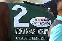 HOT SPRINGS, AR - APRIL 15: Classic Empire #2, silks before the running of the Arkansas Derby at Oaklawn Park on April 15, 2017 in Hot Springs, Arkansas. (Photo by Justin Manning/Eclipse Sportswire/Getty Images)