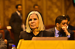 Haifa Abu Ghazaleh President of the Arab League mission attends a meeting in the Arab League's headquarters in the Egyptian capital, Cairo, on Dec. 07, 2015. The Arab Thought Foundation is an international independent non-governmental organization. It has no inclination to any party or religious group; it is rather dedicated to promote the Nation's pride with all its principles, values and ethics, in an atmosphere of a responsible freedom. Photo by Amr Sayed