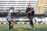 Towson, MD - March 5, 2017: Florida Gators Brianna Harris (20) takes a shot during game between Towson and Florida at  Minnegan Field at Johnny Unitas Stadium  in Towson, MD. March 5, 2017.  (Photo by Elliott Brown/Media Images International)