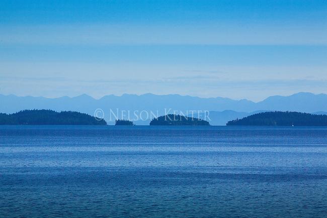 Blue colors of Flathead Lake in western Montana