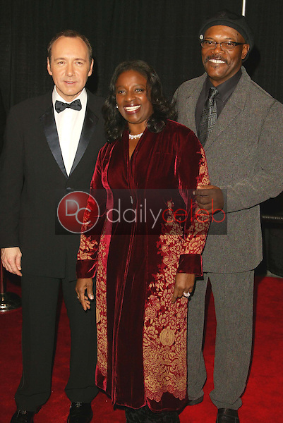 Kevin Spacey, LaTanya Richardson and Samuel L. Jackson