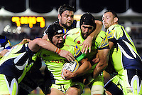 Josh Beaumont of Sale Sharks in possession. Aviva Premiership match, between Bath Rugby and Sale Sharks on October 7, 2016 at the Recreation Ground in Bath, England. Photo by: Patrick Khachfe / Onside Images