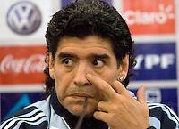 Diego Maradona news conference