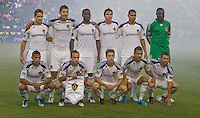 LA Galaxy starting eleven. The LA Galaxy and the San Jose Earthquakes played to a 2-2 draw at Home Depot Center stadium in Carson, California on Thursday July 22, 2010.