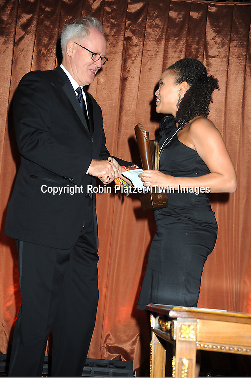 John Lithgow and Jesmyn Ward, winner for best Fiction, attends The 2011 National Book Awards Gala on November 16, 2011 at Cipriani Wall Street in New York City.