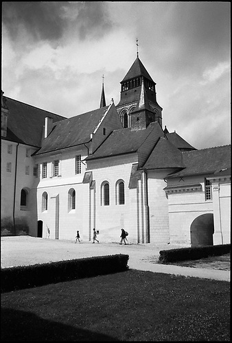 The Courtyard, Fontevraud Abbey, Chinon, France by Paul Cooklin