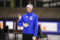 SCHAATSEN: HEERENVEEN: 11-12-2014, IJsstadion Thialf, International Speedskating training, Jeremy Wotherspoon, ©foto Martin de Jong