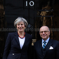 17.02.2017 - The French Prime Minister Bernard Cazeneuve at 10 Downing Street