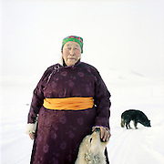Owner of the cattle rising business. Shamanist. Kyzyl region. The republic of Tuva. Russia. 2009