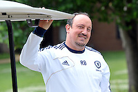 Prior to playing Manchester City in a friendly game at Busch Stadium, home of the St Louis Cardinals baseball team, Chelsea held a closed practice at Robert R Hermann Stadium on the campus of Saint Louis University..Head Coach Rafa Benitez.