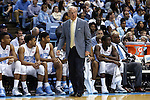 27 December 2014: UNC head coach Roy Williams. The University of North Carolina Tar Heels played the University of Alabama Birmingham Blazers in an NCAA Division I Men's basketball game at the Dean E. Smith Center in Chapel Hill, North Carolina. UNC won the game 89-58.