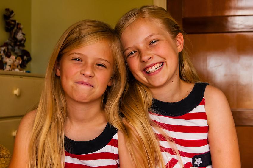 Preteen mormon sisters wearing american flag dresses cedar city utah