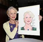 Helen Mirren - Sardi's Caricature Unveiling