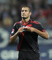 FUSSBALL   1. BUNDESLIGA  SAISON 2011/2012   5. Spieltag FC Augsburg - Bayer 04 Leverkusen           09.09.2011 Jubel nach dem Tor zum 1:4  Eren Derdiyok (Bayer 04 Leverkusen)