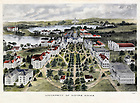 GNDL 25/11:  Color lithograph of campus by Darnell & Beckman, Philadelphia, c1902..Image from the University of Notre Dame Archives.