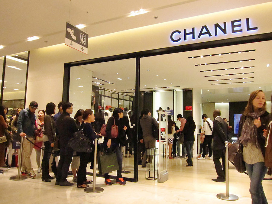 Chanel store inside Galeries Lafayette, Paris, France