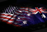 American and Australian flags blended.<br /> <br /> Larger JPEG + TIFF images available by contacting use through our contact page at :..www.photography4business.com