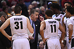 MILWAUKEE, WI - MARCH 16: Purdue Boilermakers Head Coach Matt Painter speaks to his players during the second half of the 2017 NCAA Men's Basketball Tournament held at BMO Harris Bradley Center on March 16, 2017 in Milwaukee, Wisconsin. (Photo by Jamie Schwaberow/NCAA Photos via Getty Images)