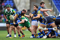 Marco Mama of Worcester Warriors passes the ball. Aviva Premiership match, between London Irish and Worcester Warriors on February 7, 2016 at the Madejski Stadium in Reading, England. Photo by: Patrick Khachfe / JMP