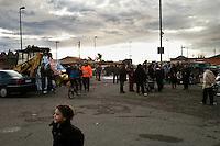 Roma 22  Febbraio 2010.Idroscalo di Ostia, i residenti preparano la protesta