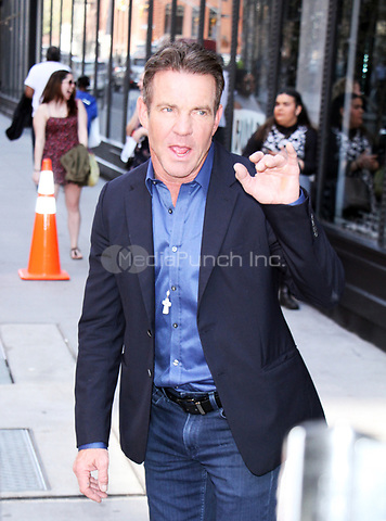 NEW YORK, NY April .11, 2017 Dennis Quaid at AOL BUILD to talk about his new movie Fortitude  in New York April 11,  2017. Credit:RW/MediaPunch