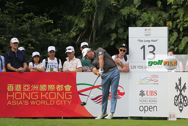 Graeme McDowell (NIR) on the 13th tee during Round 1 of the 2015 UBS Hong Kong Open at the Hong Kong Golf Club in The Netherlands on 2/10/15.<br /> Picture: Thos Caffrey | Golffile