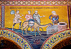 Byzantine mosaics in the Cathedral of Monreale - Rebecca waters Abrahams camels - Palermo - Sicily Pictures, photos, images &amp; fotos photography