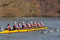 032 IM3.8+ Bristol Univ..Reading University Boat Club Head of the River 2012. Eights only. 4.6Km downstream on the Thames form Dreadnaught Reach and Pipers Island, Reading. Saturday 25 February 2012.