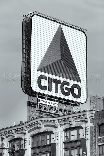 The famous CITGO sign in Kenmore Square, Boston, Massachusetts