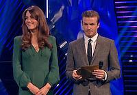 Kate, Duchess Of Cambridge & David Beckham at Sports Personality Awards - London
