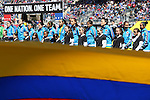 10 April 2016: Colombia's starters. The United States Women's National Team played the Colombia Women's National Team at Talen Energy Stadium in Chester, Pennsylvania in an women's international friendly soccer game. The U.S. won the match 3-0.