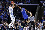 North Carolina Tar Heels forward Justin Jackson shoots a jumper over Kentucky Wildcats guard Malik Monk during the 2017 NCAA Men's Basketball Tournament South Regional Elite 8 at FedExForum in Memphis, TN on Friday March 24, 2017. Photo by Michael Reaves   Staff
