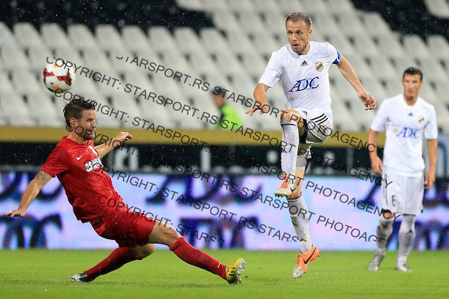 Fudbal Football Soccer<br /> UEFA Europa league-Second qualifying round, First leg<br /> Cukaricki v Grodig Austria<br /> Igor Matic (R)<br /> Beograd, 07.17.2014.<br /> foto: Srdjan Stevanovic/Starsportphoto &copy;