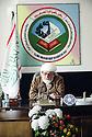 Iraq 2000<br /> Mollah Ali, leaderf of the Kurdish Islamic Movement in Iraq in his HQ of Halabja.<br /> Irak 2000 <br /> Mollah Ali, chef du mouvement islamique kurde d'Irak, dans son bureau de Halabja