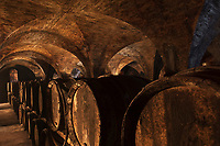 Europe/France/Midi-Pyrénées/32/Gers/Saint-Puy: Château Monluc , Berceau du Pousse-Rapière cocktail à base d'Armagnac - le chai de vieillissement.