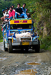 PHILIPPINES (Hapao, Province of Ifugao). 2009. Jeepney along the road near Hapao.