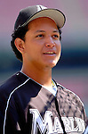 5 September 2005: Miguel Cabrera, outfielder for the Florida Marlins, prior to a game against the Washington Nationals. The Nationals defeated the Marlins 5-2 at RFK Stadium in Washington, DC. Mandatory Photo Credit: Ed Wolfstein.