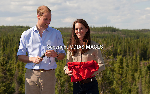 "PRINCE WILLIAM & KATE.visited a Canadian Rangers station at Blachford Lake in the North West Territories of Canada, meeting with First Nation villagers and later canoed to 'Honeymoon Island where they spent a secluded night together in tents.Mandatory Credit Photo: ©DIASIMAGES..**ALL FEES PAYABLE TO: ""NEWSPIX INTERNATIONAL""**..No UK Usage until 02/08/2011.IMMEDIATE CONFIRMATION OF USAGE REQUIRED:.DiasImages, 31a Chinnery Hill, Bishop's Stortford, ENGLAND CM23 3PS.Tel:+441279 324672  ; Fax: +441279656877.Mobile:  07775681153.e-mail: info@newspixinternational.co.uk"