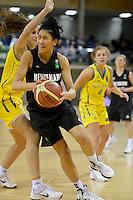 2012 FIBA Oceania Women's U19 Championship match between NZ Junior Tall Ferns and Australian Gems at Te Rauparaha Arena, Porirua, Wellington, New Zealand on Thursday, 20 September 2012.<br /> Photo by Masanori Udagawa<br /> www.photowellington.com