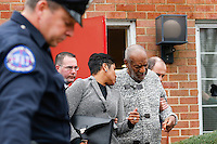 Actor and comedian Bill Cosby exits the court after his arraignment on sexual assault charges at the Montgomery County Courthouse in Elkins Park, Pennsylvania. 12/30/2015. VIEWpress