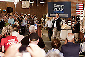 August 12, 2012. High Point, NC.. NC gubernatorial candidate Pat McCrory attended a Romney/ Ryan campaign rally held at Absolute Style, a furniture factory opened in 2006 after much of the industry in the area had collapsed and moved overseas. Over 10,000 people showed up to try and attend..  Republican presidential candidate Mitt Romney campaigned through Virginia and North Carolina over the weekend, showing off his new vice presidential pick Paul Ryan. The candidates stopped at several small businesses highlighting their promise to champion the needs of business owners across the country.