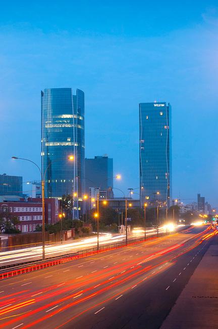Lima, Peru, San Isidro District, Avenue Javier Prado, Early Morning Rush Hour